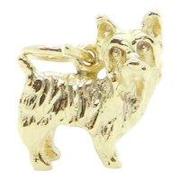 Australian Terrier Dog Charm 14k Yellow Gold