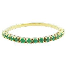 .36 ctw Emerald Flex Band Ring 14k Yellow Gold