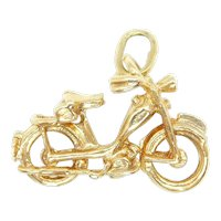 Motorcycle Charm 14k Yellow Gold