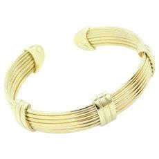 Fancy 7-Row Cuff Bracelet 14k Yellow Gold