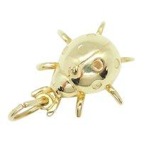 Ladybug Charm 14k Yellow Gold