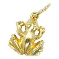Frog Charm 14k Yellow Gold