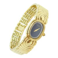 Ladies Raymond Weil Wristwatch / Watch Gold Plated with Black Dial