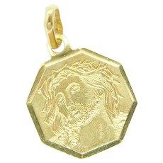 Religious Jesus Christ Charm / Pendant 18k Yellow Gold