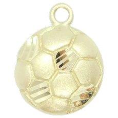 Sports Soccer Ball Charm 14k Yellow Gold