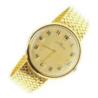 Vintage Movado Watch Telephone Style 18k Yellow Gold 1970-80's / Wristwatch
