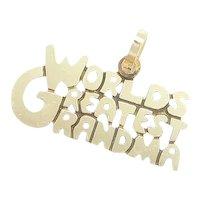 Worlds Greatest Grandma Charm 14k Yellow Gold