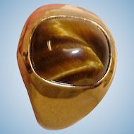 40% off - Vintage 18K HGP Yellow Gold Cat Eye  Ring –  Size 12-3/4 US