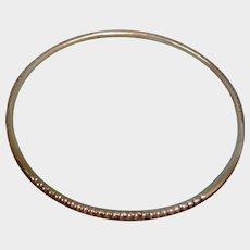 Vintage 925 Mexico Bangle Bracelet - Sterling Silver Narrow Bangle Stacking Bracelet