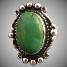 Vintage Navajo Sterling Turquoise Ring