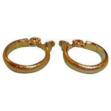 Gold Tone MONET Clip-On Earrings