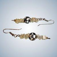 Vintage Mother of Pearl Pierced Earrings