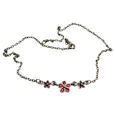 Vintage Sweet and Petite Enamel Necklace