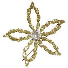 30% Off SALE:  Vintage  Star Brooch Pin - Signed B David