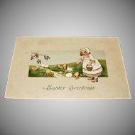Vintage Embossed Easter Post Card - Unused - Antique Postcard