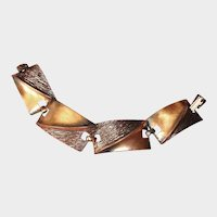 Vintage Copper Link Bracelet - 7 Inches Long