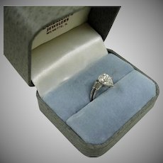 Vintage Pear Shaped  Diamond Platinum RING - Size 6-3/4 US – Certified 2.52 Central Solitaire - TCW over 3 Carats