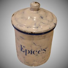 EPICES - Snow On The Mountain Enamelware - Vintage Graniteware