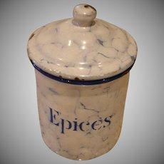 EPICES - Snow On The Mountain Enamelware - Vintage Graniteware