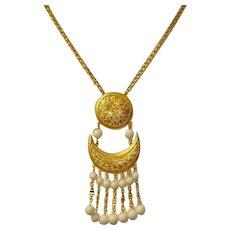 Vendome MOD Sun and Moon Necklace - Vintage VENDOME Estate Jewelry