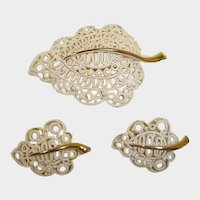 MONET Vintage Demi Parure - Brooch and Earrings Set