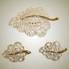 MONET Vintage Demi Parure - Brooch and Earrings Set