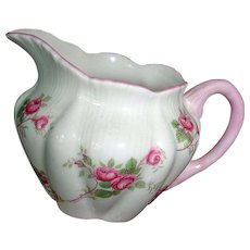 SHELLEY Fine Bone China - FLUTED Bridal Rose Creamer - England