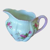 SALE**** SHELLEY Fine Bone China - FLUTED Bridal Rose Creamer - England