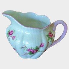 SALE**** SHELLEY Fine Bone China - FLUTED Bridal Rose Creamer - England