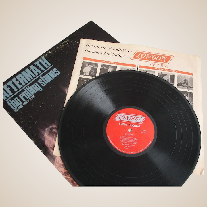 Vintage Record Album - Aftermath [LP] by The Rolling Stones - MONO