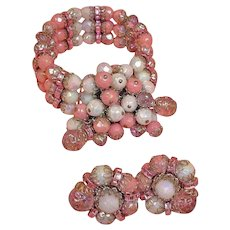 Vintage HOBE Demi Parure - Bracelet and Earrings Set