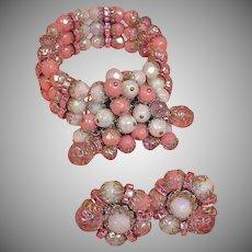 Vintage HOBE Demi Parure - Bracelet and Earrings Set