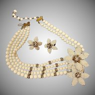 Signed JONNE by Schrager Necklace and Earrings Set – Vintage Demi Parure Jewelry