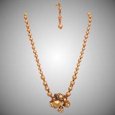 Robert DeMario CLUSTER Glass Baroque Pearl Necklace - Vintage Demario Classic Jewelry