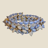 Early MIRIAM HASKELL Wire Wrap Cluster Cuff Bracelet