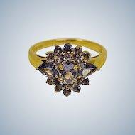 Tanzanite 14K Yellow Gold Ring  - SIZE 8 US - Estate Ring