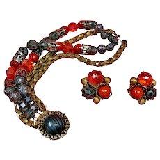 HOBE Bracelet and Earring Set -  Hobe Demi Parure