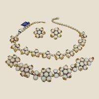 Vintage Hattie Carnegie Parure - Necklace Bracelet Earrings Set - With ORIGINAL TAG