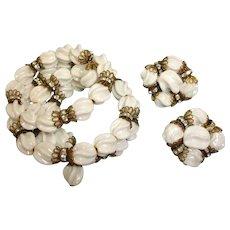 Hobe Bracelet and Earrings Set –  Vintage HOBE Demi-Parure Jewelry