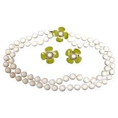 Vintage HOBE Necklace and Earrings Set - Hobe Demi Parure Jewelry - 1950's Demi Parure