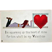 Vintage STECHER Embossed Valentine Postcard – Stecher Series 154 F