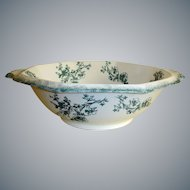 Antique WH Grindley Transferware  Bowl - Doreen Pattern - Staffordshire, England