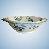 Antique WH Grindley Transferware  Bowl - Doreen Pattern - Staffordshire, England