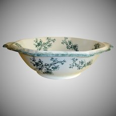 "Antique WH Grindley Transferware  Bowl - Doreen Pattern - 18"" Wash Bowl - Staffordshire, England"