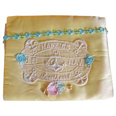 Vintage WW11 Hankie Holder - Hanky Sachet Envelope – Handkerchief Holder From a USA Navy Sailor To His Sweetheart