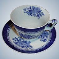 Vintage Copeland Spode Cup and Saucer - Fitzhugh Pattern # Y2988 London Shape
