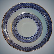 Vintage Copeland SPODE China SAUCE DISH or BOWL -  Jefferson Pattern  with Gold Trim
