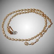 MIRIAM HASKELL Glass Baroque Pearl Necklace - Vintage Miriam Haskell Jewelry