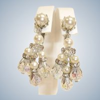 VENDOME Dangle Drop Earrings - Vintage Chandelier Earrings By Vendome Jewelry