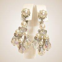 VENDOME Dangle Drop Earrings - Vintage Chandelier Earrings By Vendome Jewelry
